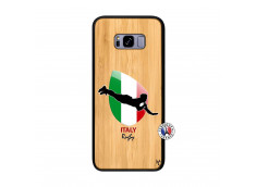 Coque Samsung Galaxy S8 Plus Coupe du Monde Rugby-Italy Bois Bamboo