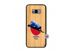 Coque Samsung Galaxy S8 Plus Coupe du Monde Rugby-Samoa Bois Bamboo