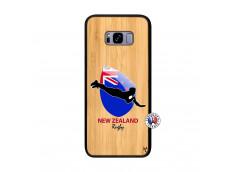 Coque Samsung Galaxy S8 Plus Coupe du Monde Rugby- Nouvelle Zélande Bois Bamboo