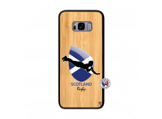 Coque Samsung Galaxy S8 Plus Coupe du Monde Rugby-Scotland Bois Bamboo