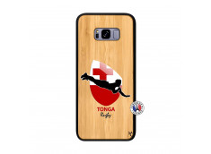 Coque Samsung Galaxy S8 Plus Coupe du Monde Rugby-Tonga Bois Bamboo