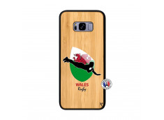 Coque Samsung Galaxy S8 Plus Coupe du Monde Rugby-Walles Bois Bamboo