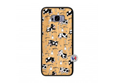 Coque Samsung Galaxy S8 Plus Cow Pattern Bois Bamboo