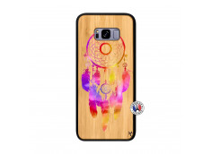 Coque Samsung Galaxy S8 Plus Dreamcatcher Rainbow Feathers Bois Bamboo