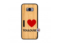 Coque Samsung Galaxy S8 Plus I Love Toulouse Bois Bamboo
