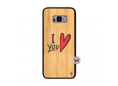 Coque Samsung Galaxy S8 Plus I Love You Bois Bamboo