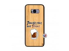 Coque Samsung Galaxy S8 Plus Jamais Sans Ma Brune Bois Bamboo