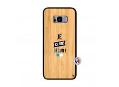 Coque Samsung Galaxy S8 Plus Je Crains Degun Bois Bamboo