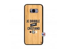 Coque Samsung Galaxy S8 Plus Je Dribble Comme Cristiano Bois Bamboo