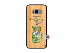 Coque Samsung Galaxy S8 Plus Je peux pas J'ai Apéro Bois Bamboo