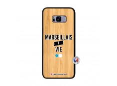 Coque Samsung Galaxy S8 Plus Marseillais à Vie Bois Bamboo