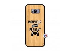 Coque Samsung Galaxy S8 Plus Monsieur Mauvais Perdant Bois Bamboo