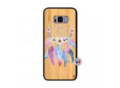 Coque Samsung Galaxy S8 Plus Multicolor Watercolor Floral Dreamcatcher Bois Bamboo