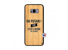 Coque Samsung Galaxy S8 Plus Oh Putain C Est L Heure De L Apero Bois Bamboo