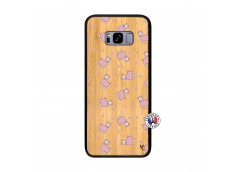 Coque Samsung Galaxy S8 Plus Petits Moutons Bois Bamboo