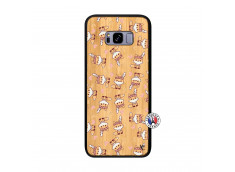 Coque Samsung Galaxy S8 Plus Petits Renards Bois Bamboo