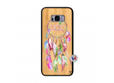 Coque Samsung Galaxy S8 Plus Pink Painted Dreamcatcher Bois Bamboo