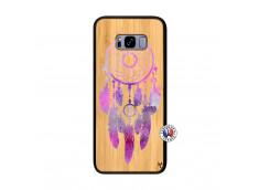 Coque Samsung Galaxy S8 Plus Purple Dreamcatcher Bois Bamboo
