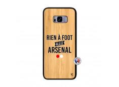 Coque Samsung Galaxy S8 Plus Rien A Foot Allez Arsenal Bois Bamboo