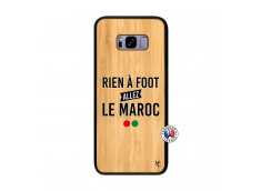 Coque Samsung Galaxy S8 Plus Rien A Foot Allez Le Maroc Bois Bamboo