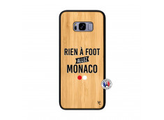 Coque Samsung Galaxy S8 Plus Rien A Foot Allez Monaco Bois Bamboo