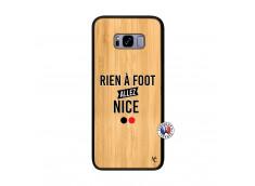 Coque Samsung Galaxy S8 Plus Rien A Foot Allez Nice Bois Bamboo
