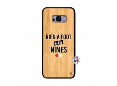 Coque Samsung Galaxy S8 Plus Rien A Foot Allez Nimes Bois Bamboo