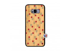 Coque Samsung Galaxy S8 Plus Rose Pattern Bois Bamboo
