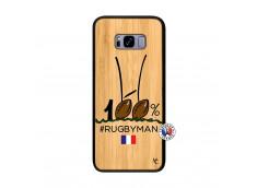 Coque Samsung Galaxy S8 Plus 100 % Rugbyman Entre les Poteaux Bois Bamboo