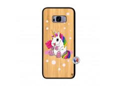 Coque Samsung Galaxy S8 Plus Sweet Baby Licorne Bois Bamboo