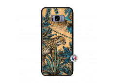Coque Samsung Galaxy S8 Plus Leopard Jungle Bois Bamboo