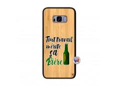 Coque Samsung Galaxy S8 Plus Tout Travail Merite Sa Biere Bois Bamboo