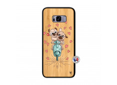 Coque Samsung Galaxy S8 Plus Puppies Love Bois Bamboo