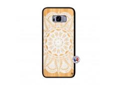 Coque Samsung Galaxy S8 Plus White Mandala Bois Bamboo
