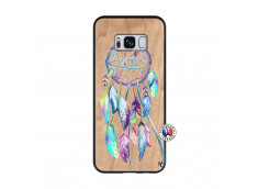 Coque Samsung Galaxy S8 Blue Painted Dreamcatcher Bois Bamboo