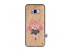 Coque Samsung Galaxy S8 Bouquet de Roses Bois Bamboo