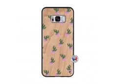 Coque Samsung Galaxy S8 Cactus Pattern Bois Bamboo