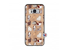 Coque Samsung Galaxy S8 Cat Pattern Bois Bamboo