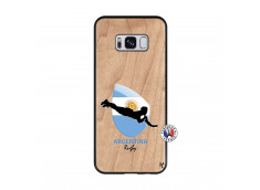 Coque Samsung Galaxy S8 Coupe du Monde Rugby-Argentine Bois Bamboo
