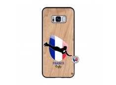 Coque Samsung Galaxy S8 Coupe du Monde de Rugby-France Bois Bamboo