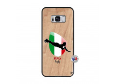 Coque Samsung Galaxy S8 Coupe du Monde Rugby-Italy Bois Bamboo
