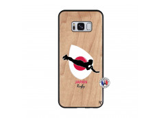 Coque Samsung Galaxy S8 Coupe du Monde Rugby-Japan Bois Bamboo