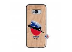 Coque Samsung Galaxy S8 Coupe du Monde Rugby-Samoa Bois Bamboo