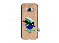 Coque Samsung Galaxy S8 Coupe du Monde Rugby-South Africa Bois Bamboo