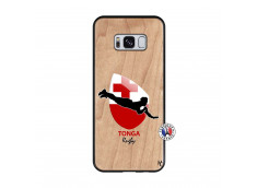 Coque Samsung Galaxy S8 Coupe du Monde Rugby-Tonga Bois Bamboo