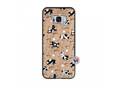 Coque Samsung Galaxy S8 Cow Pattern Bois Bamboo