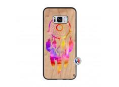 Coque Samsung Galaxy S8 Dreamcatcher Rainbow Feathers Bois Bamboo