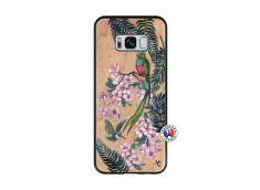 Coque Samsung Galaxy S8 Flower Birds Bois Bamboo