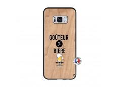 Coque Samsung Galaxy S8 Gouteur De Biere Bois Bamboo