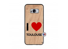 Coque Samsung Galaxy S8 I Love Toulouse Bois Bamboo